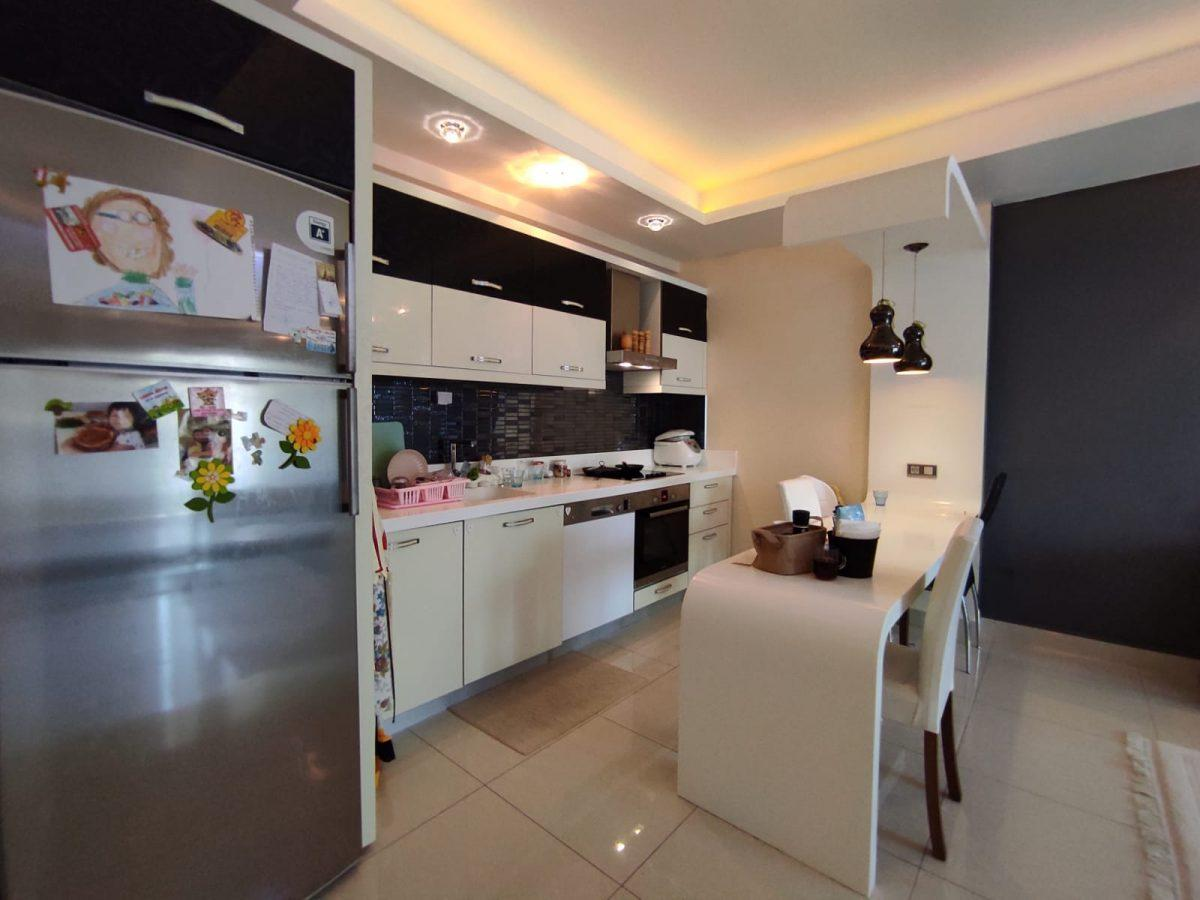 Квартира 2+1 с мебелью и техникой в комплексе с отельной концепцией в Махмутларе - Фото 29