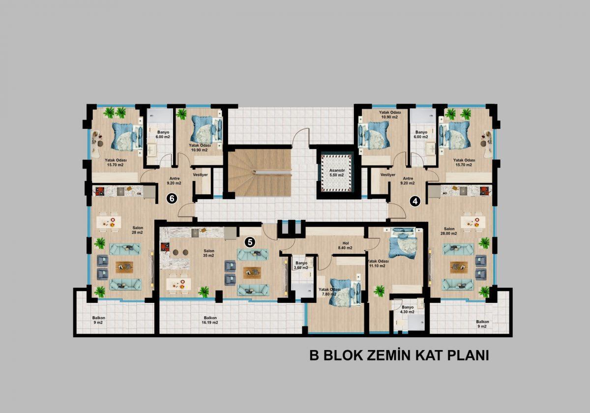 Апартаменты премиального класса  с панорамным видом в центре Алании - Фото 25