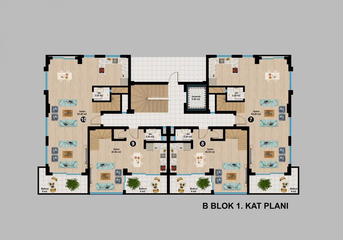 Апартаменты премиального класса  с панорамным видом в центре Алании - Фото 26