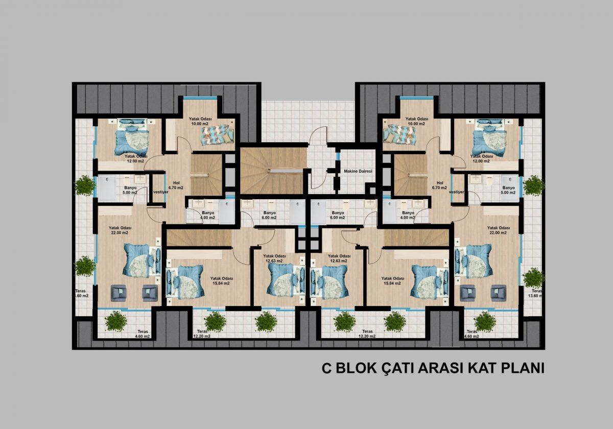 Апартаменты премиального класса  с панорамным видом в центре Алании - Фото 30