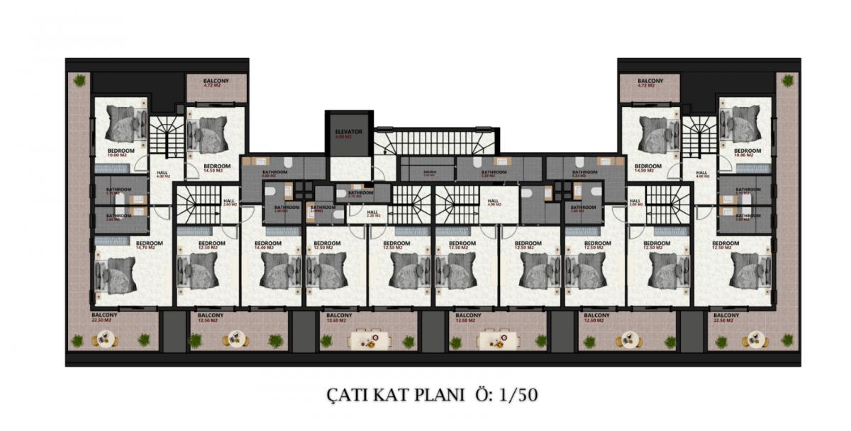 Квартиры в новом ЖК в районе Оба - Фото 22