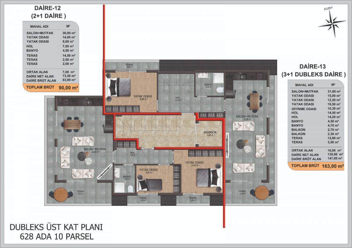 Инвестиционные  апартаменты 2+1 Центре Алании - Фото 16