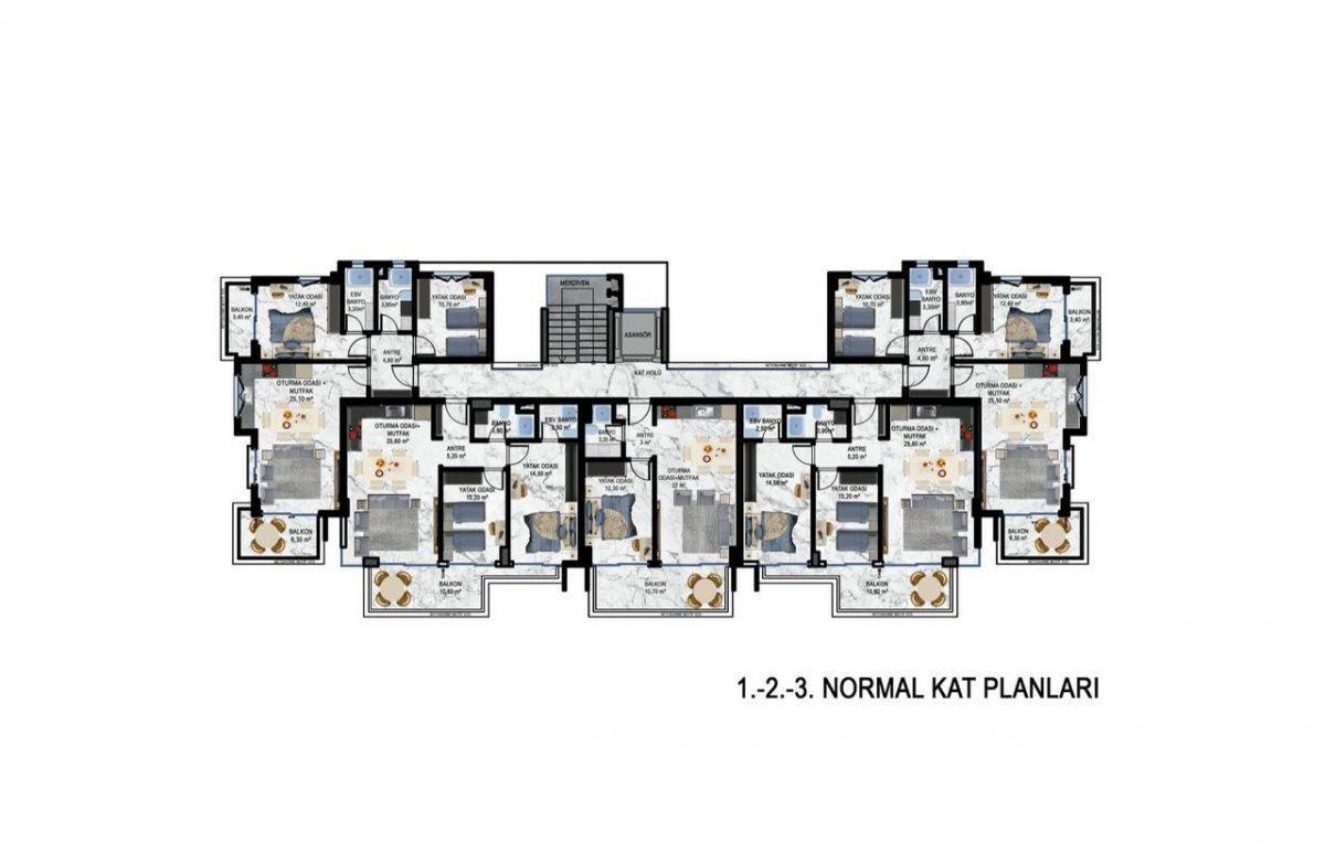 Квартиры в современном ЖК в Кестеле - Фото 28
