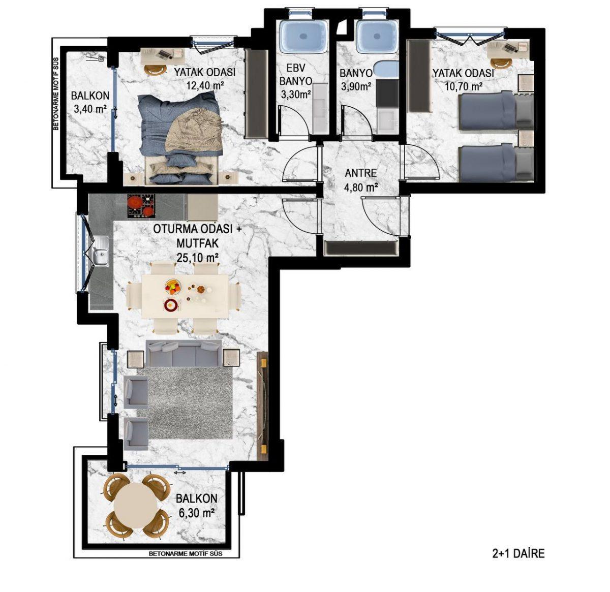 Квартиры в современном ЖК в Кестеле - Фото 20