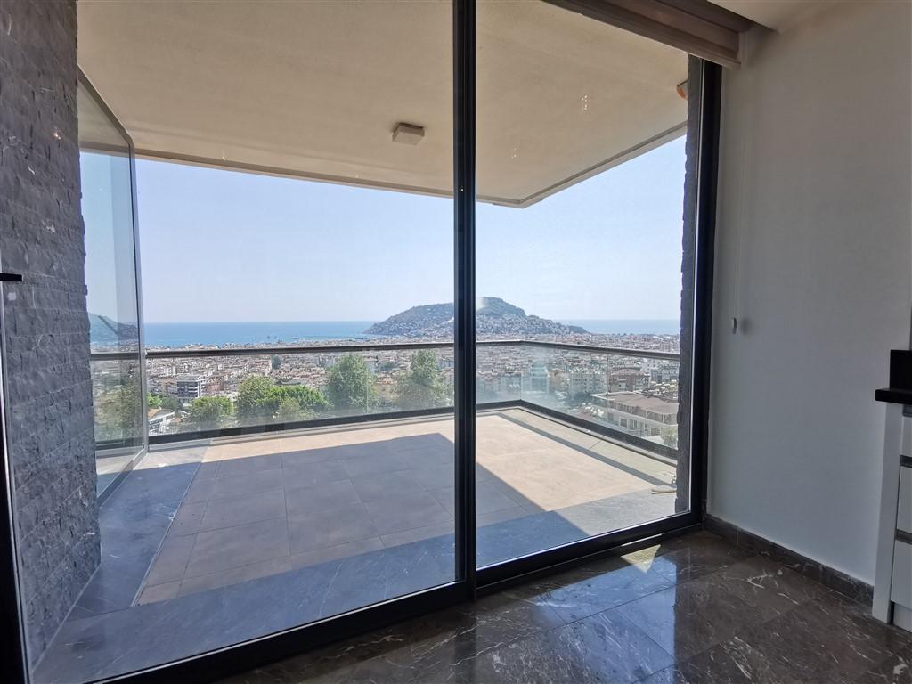Апартаменты 2+1 с панорамным видом на Аланию - Фото 30