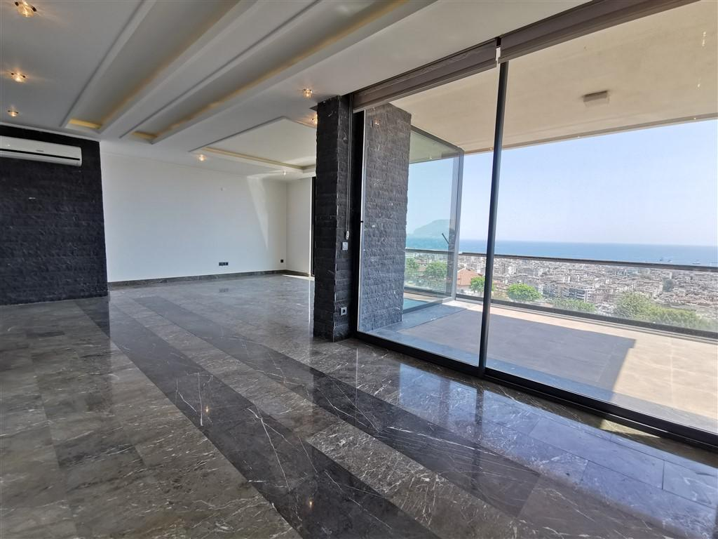 Апартаменты 2+1 с панорамным видом на Аланию - Фото 31