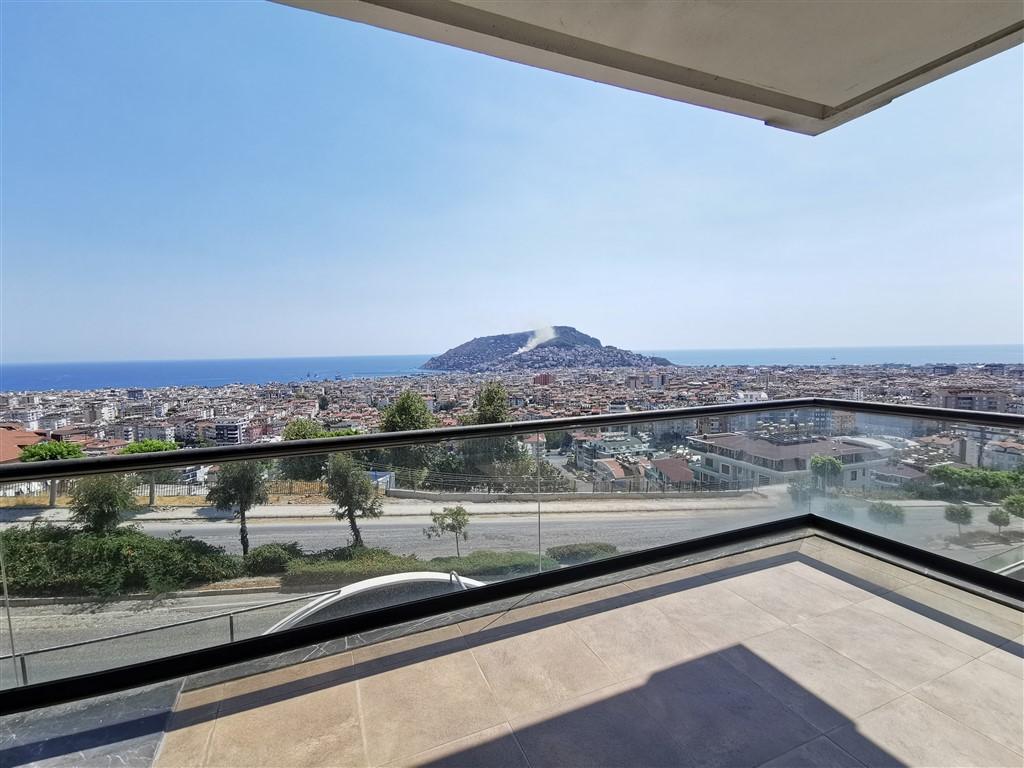 Апартаменты 2+1 с панорамным видом на Аланию - Фото 37