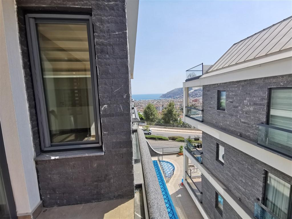 Апартаменты 2+1 с панорамным видом на Аланию - Фото 40