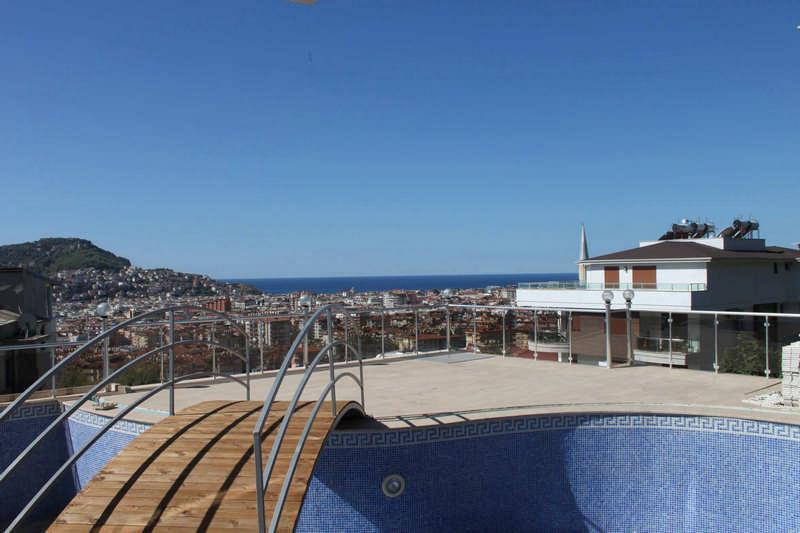 Меблированный пентхаус с видом на море в Алании - Фото 4