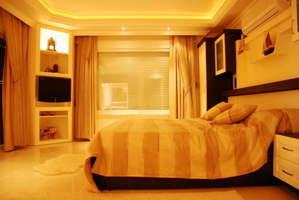 Двухуровневая квартира с тремя спальнями с панорамным видом на море в Махмутларе - Фото 21
