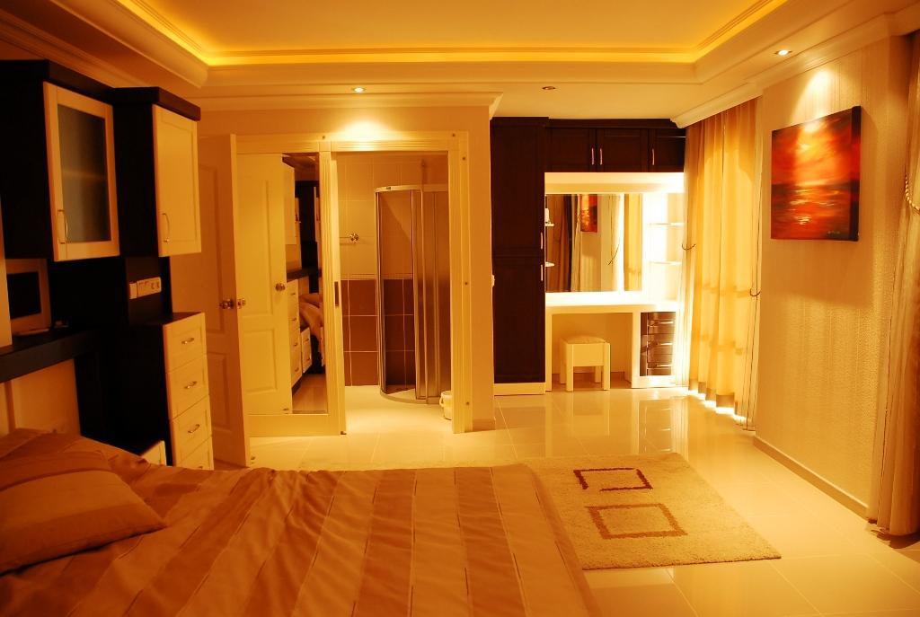 Двухуровневая квартира с тремя спальнями с панорамным видом на море в Махмутларе - Фото 22