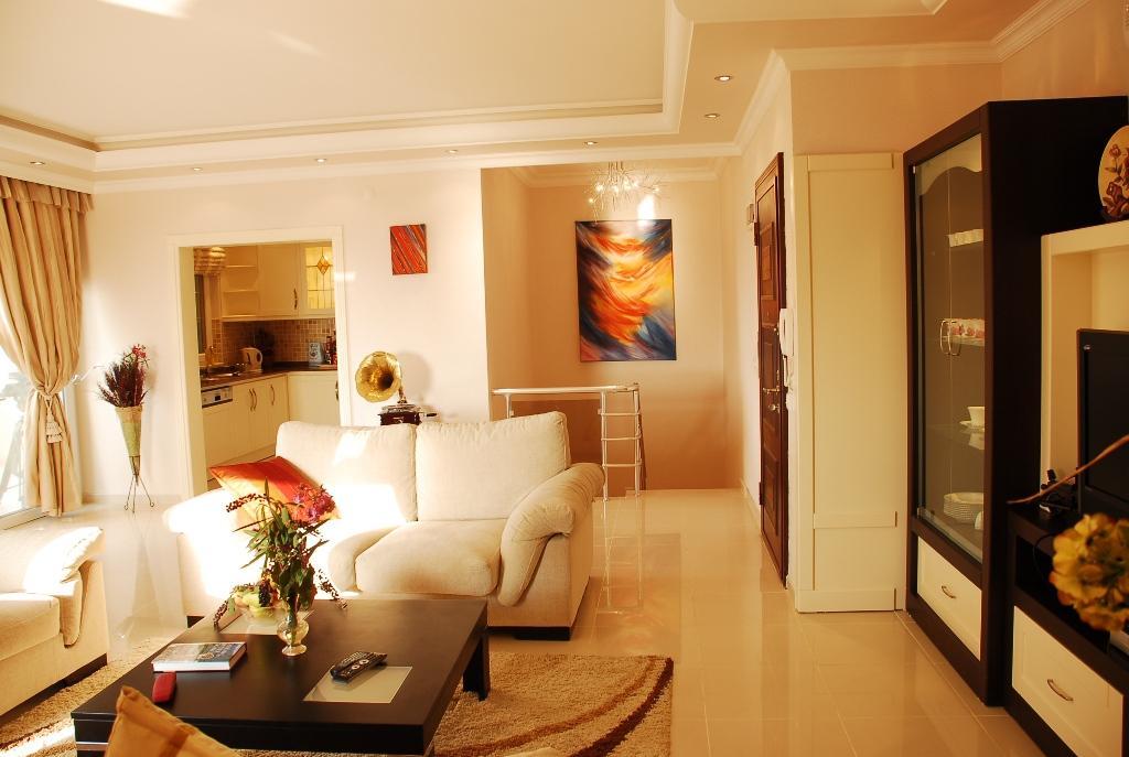 Двухуровневая квартира с тремя спальнями с панорамным видом на море в Махмутларе - Фото 13