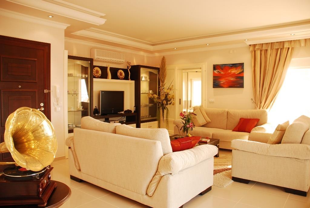 Двухуровневая квартира с тремя спальнями с панорамным видом на море в Махмутларе - Фото 1
