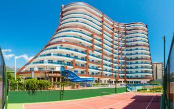 Меблированная квартира в комплексе с отельной инфраструктурой в Махмутлар