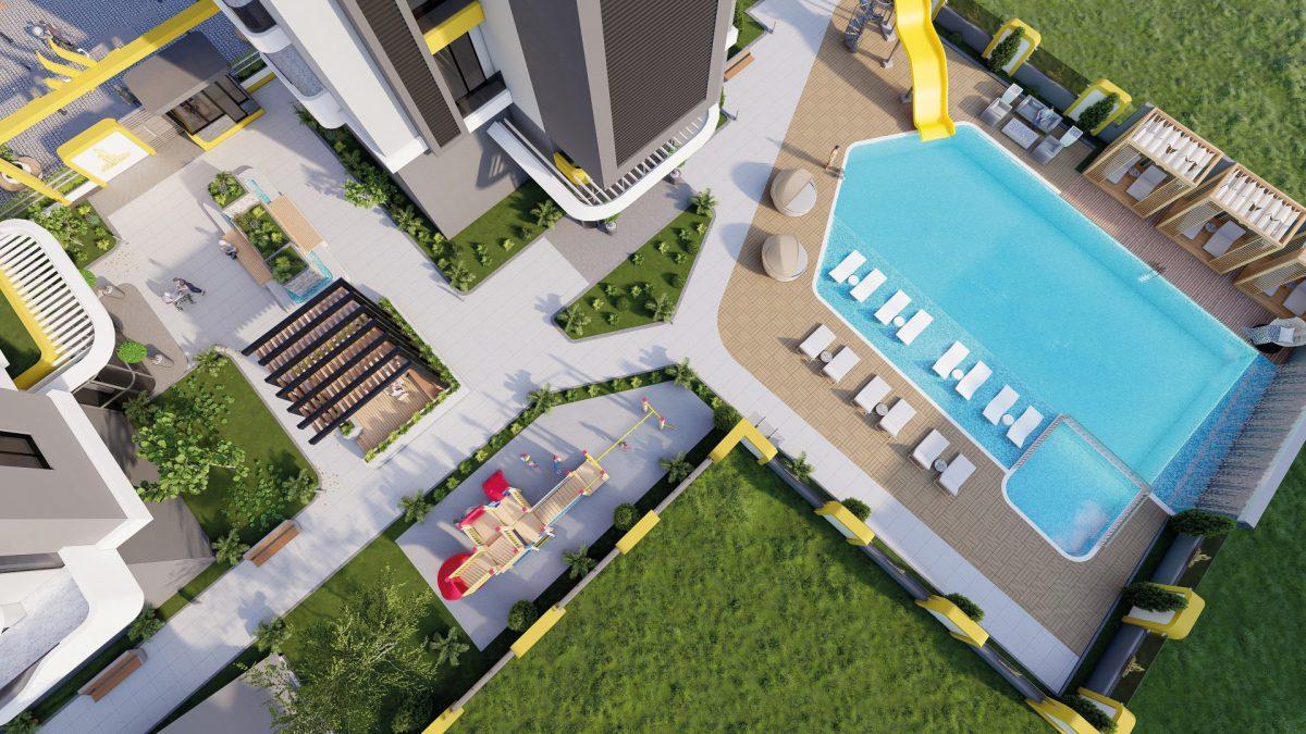 Квартиры в новом ЖК в центре Махмутлара - Фото 13