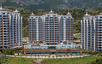 Апартаменты 1+1 в люксовом ЖК в районе Махмутлар
