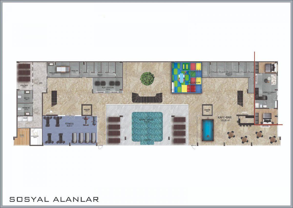 Новые апартаменты в центральном районе Аланьи - Фото 39