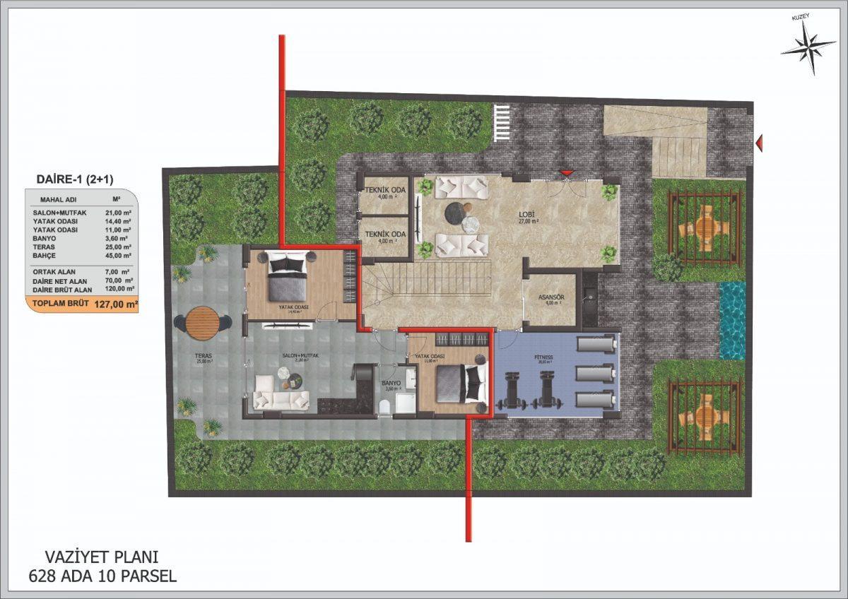 Инвестиционные  апартаменты 2+1 Центре Алании - Фото 17