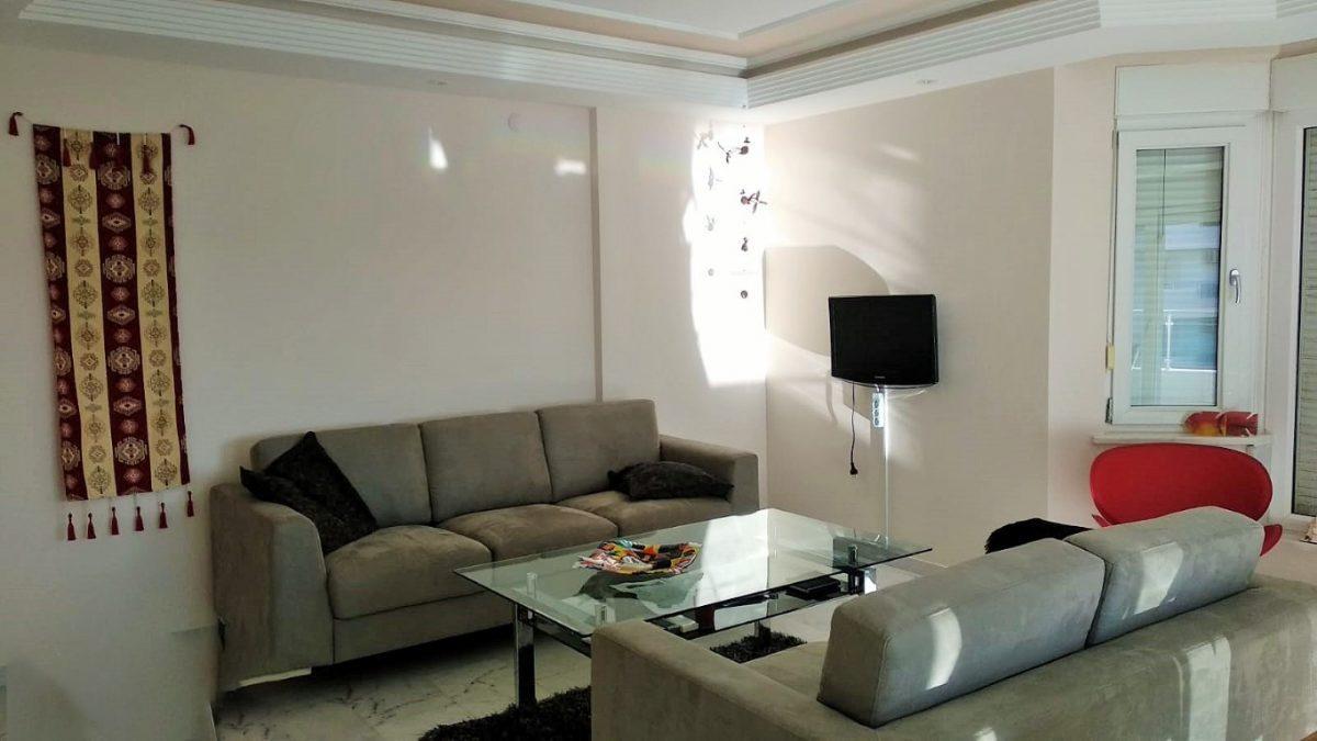 Меблированная квартира 2+1 в комплексе на первой береговой линии в Тосмуре - Фото 15