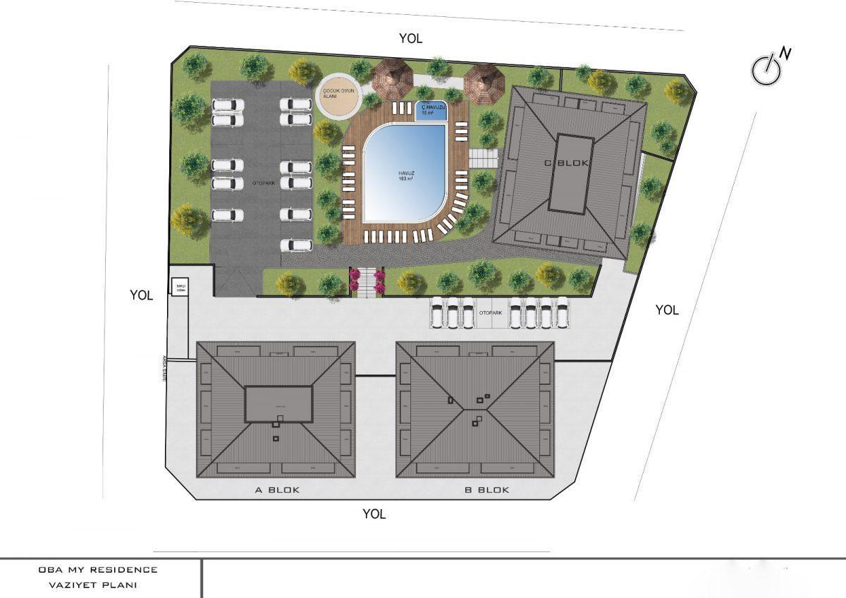 Апартаменты с отдельной кухней в новом ЖК в районе Оба - Фото 24