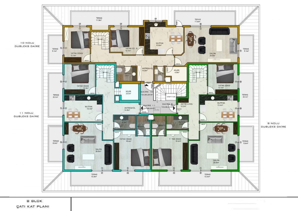 Апартаменты с отдельной кухней в новом ЖК в районе Оба - Фото 22