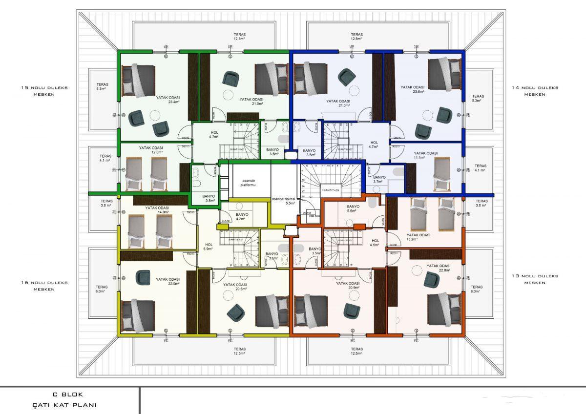 Апартаменты с отдельной кухней в новом ЖК в районе Оба - Фото 23