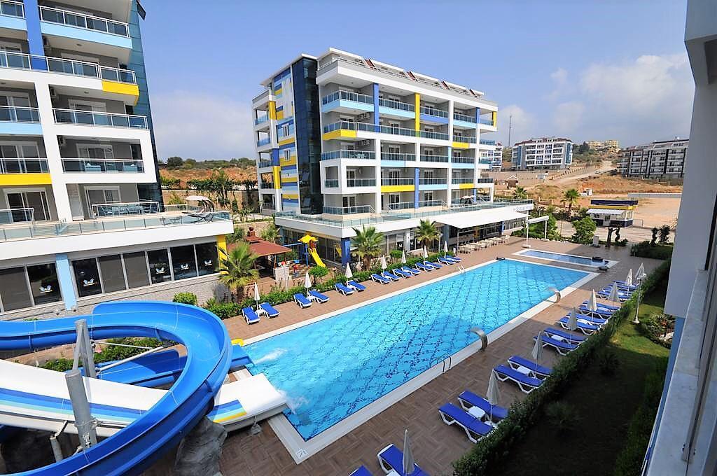 Меблированная квартир 1+1 в комплексе с хорошей инфраструктурой в Кестеле - Фото 1