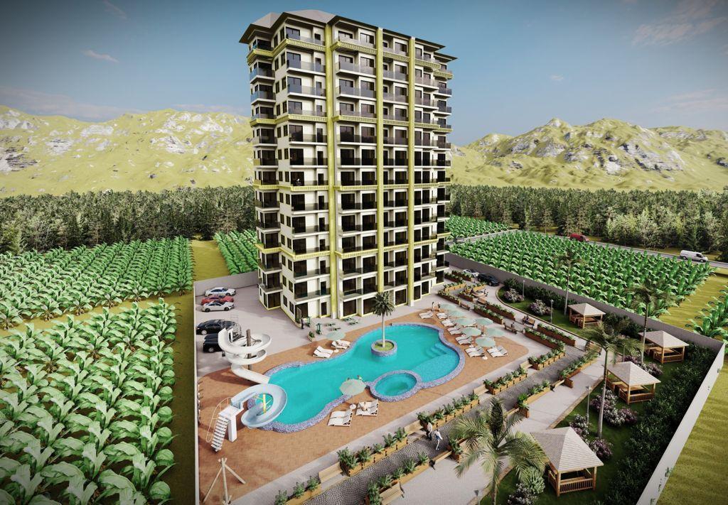 Квартиры в ЖК с аквапарком в Махмутларе - Фото 1