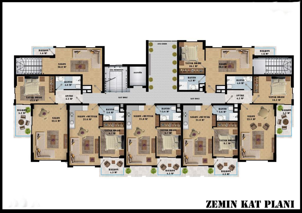 Квартиры в современном комплексе в районе Оба - Фото 14