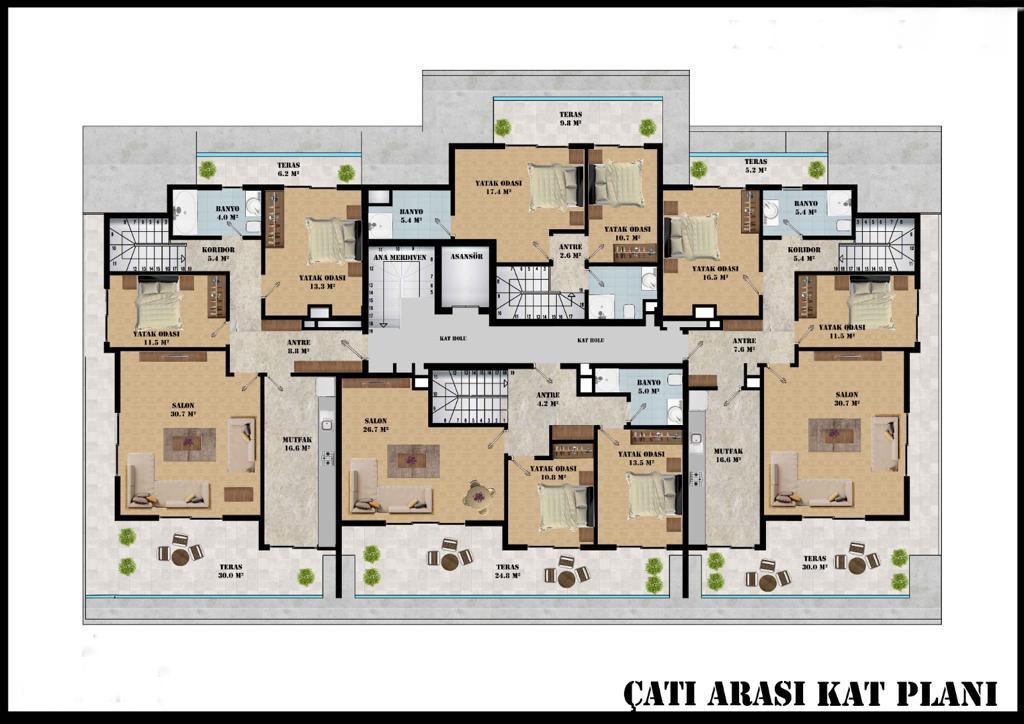 Квартиры в современном комплексе в районе Оба - Фото 15