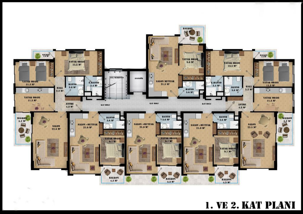 Квартиры в современном комплексе в районе Оба - Фото 16