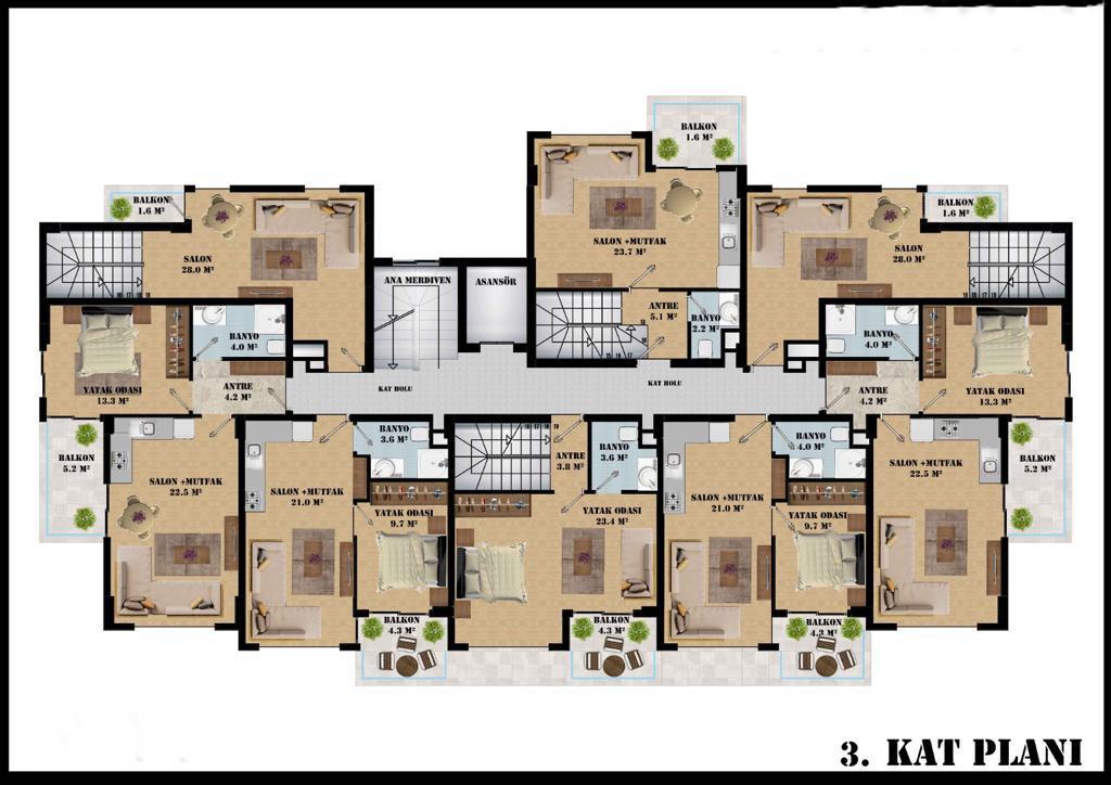Квартиры в современном комплексе в районе Оба - Фото 17