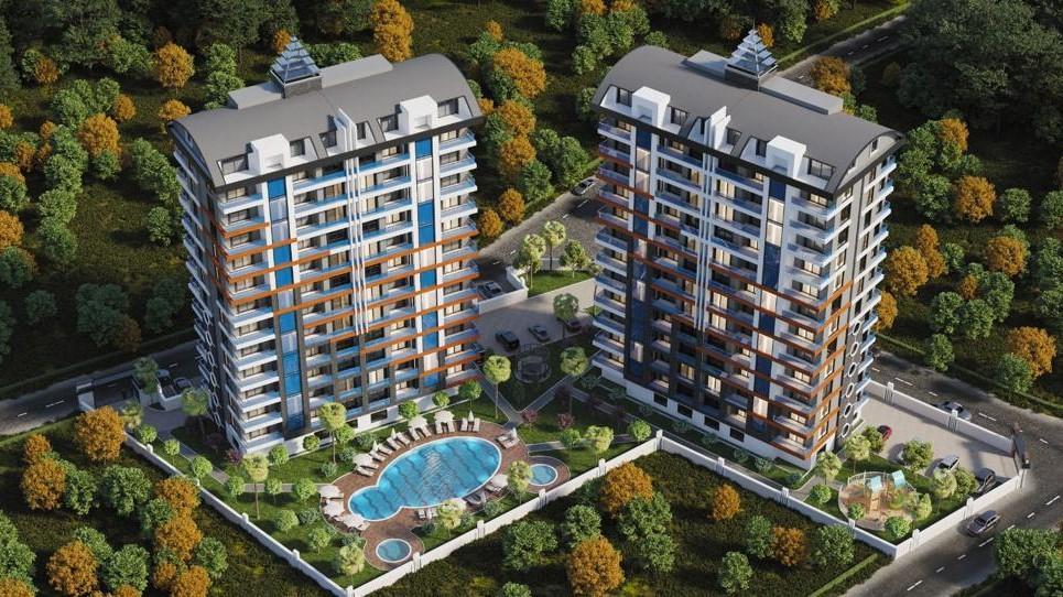 Стильные апартаменты  в Махмутлар - самом популярном туристическом центре Алании. - Фото 1