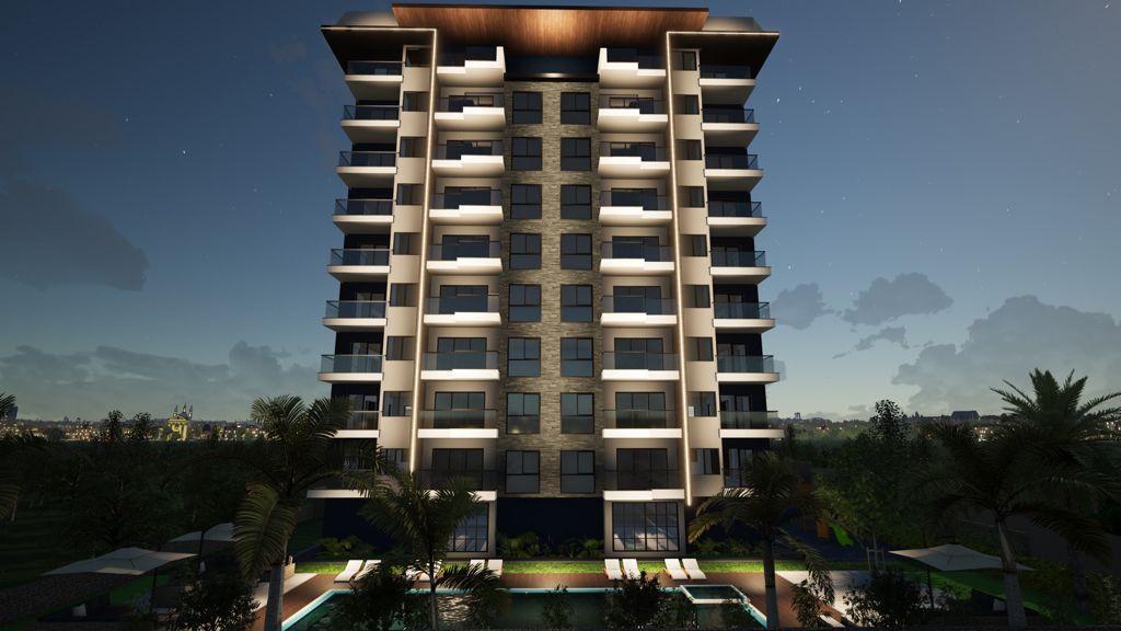 Новый строящийся комплекс рядом с морем в центре Махмутлара - Фото 4
