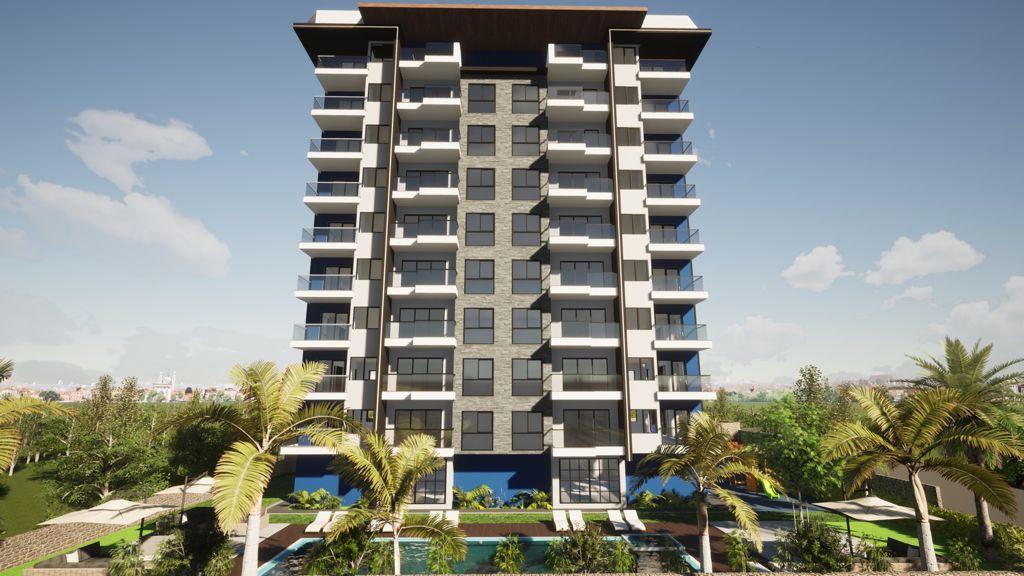 Новый строящийся комплекс рядом с морем в центре Махмутлара - Фото 1
