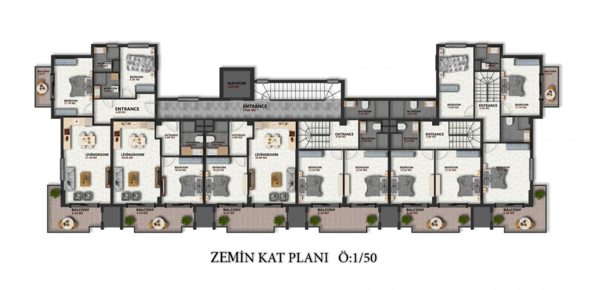 Квартиры в новом ЖК в районе Оба - Фото 25