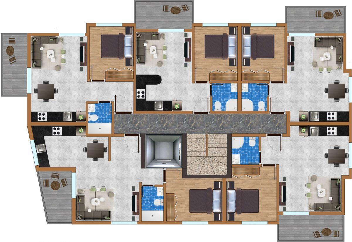 Апартаменты в новом комплексе в центре Махмутлара - Фото 19
