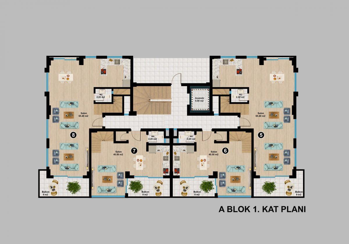 Апартаменты премиального класса  с панорамным видом в центре Алании - Фото 21