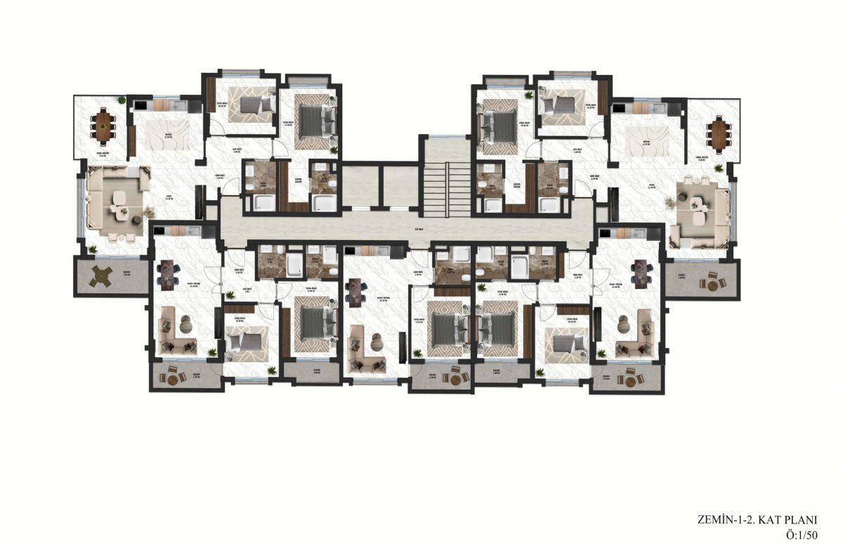 Апартаменты в новом ЖК в районе Оба - Фото 30