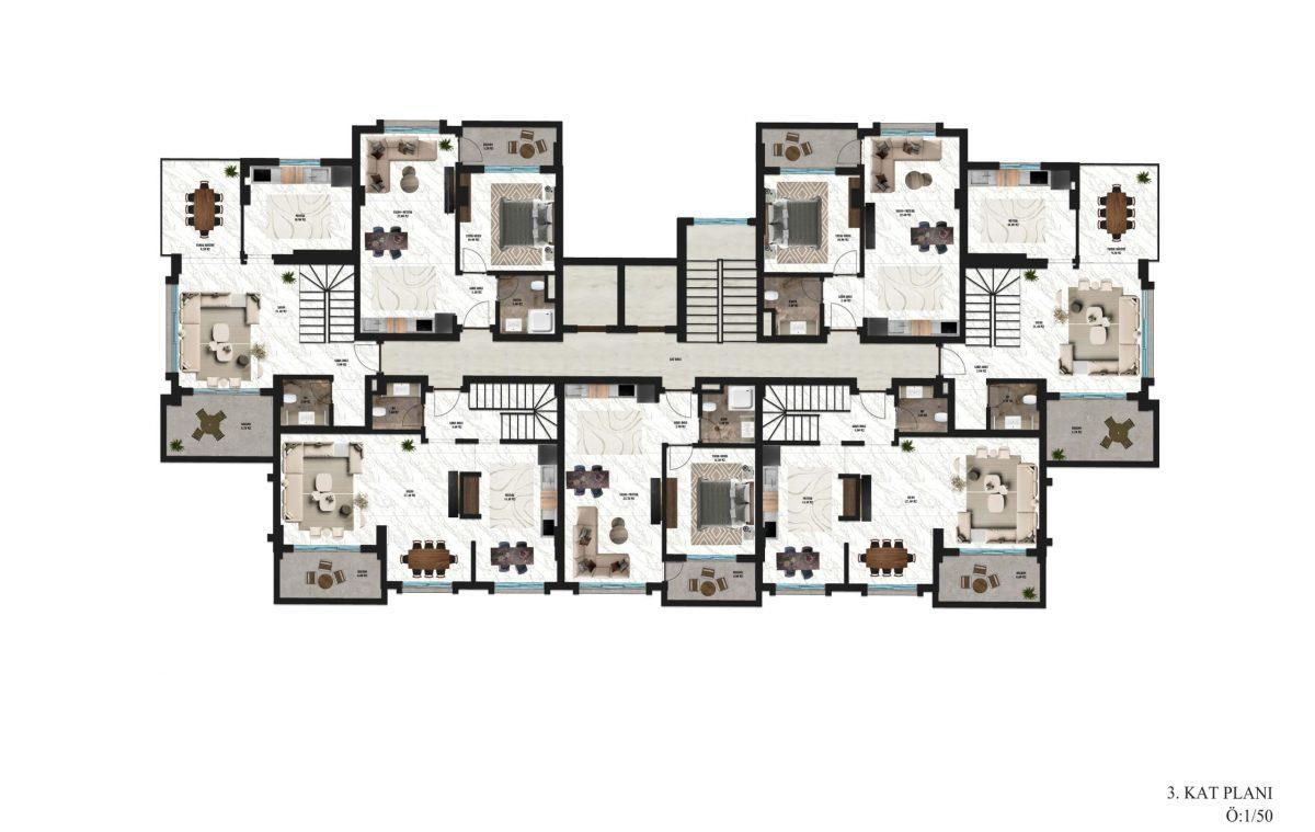Апартаменты в новом ЖК в районе Оба - Фото 31