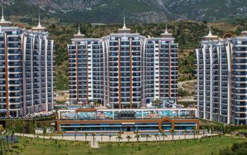 Квартира 2+1 с мебелью и техникой в комплексе с отельной концепцией в Махмутларе