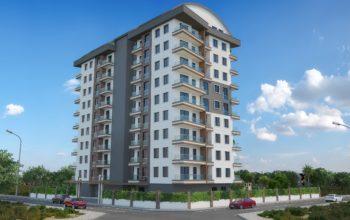 Новые квартиры в комплексе рядом с морем в Махмутларе