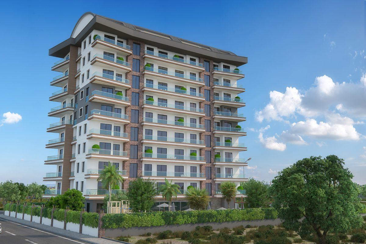 Новые квартиры в комплексе рядом с морем в Махмутларе - Фото 2