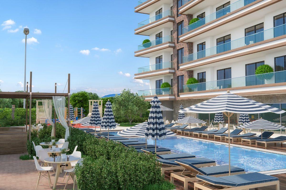 Новые квартиры в комплексе рядом с морем в Махмутларе - Фото 3