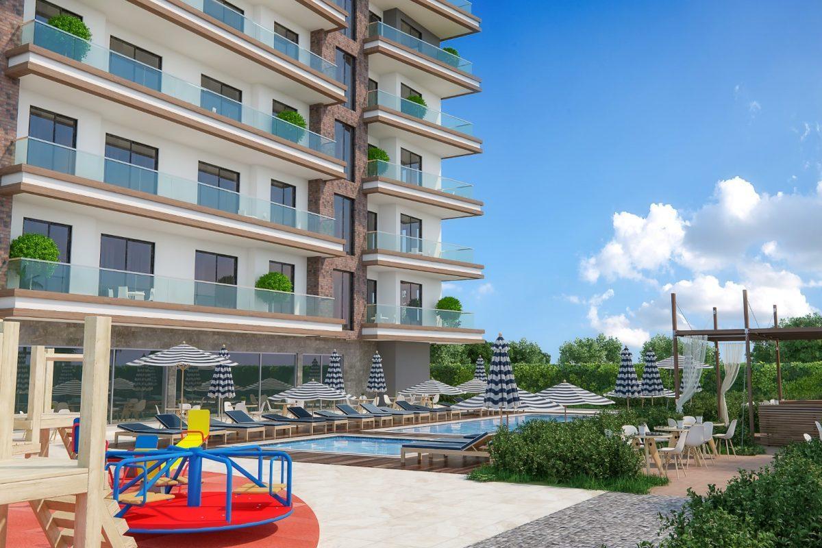 Новые квартиры в комплексе рядом с морем в Махмутларе - Фото 6