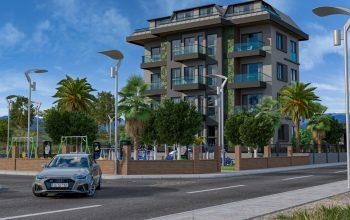 Квартиры с хорошими планировками в строящемся комплексе в Авсалларе