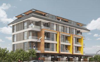 Квартиры в новом комплексе в центре Алании рядом с морем