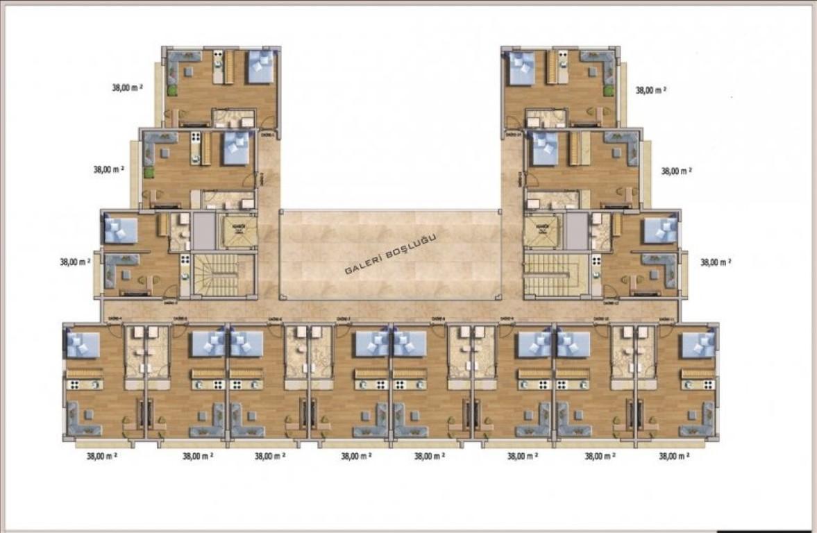 Квартира с мебелью в современном ЖК в Авсалларе - Фото 29