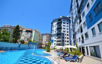 Квартира 2+1 в районе пляжа Клеопатра в комплексе с отельной инфраструктурой
