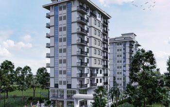 Инвестиционные апартаменты 1+1,2+1,3+1 в жилом комплексе с инфраструктурой отельного типа в Махмутлар